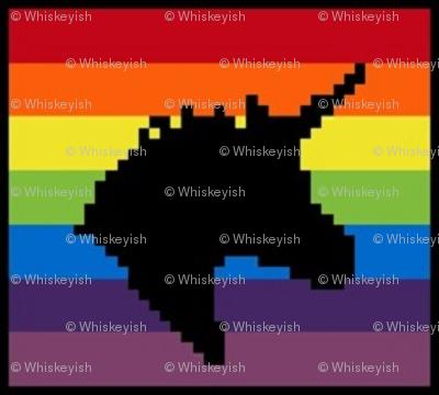 Rainbow Unicorn Silhouette