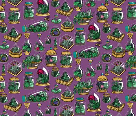 Gilded Terrariums fabric by pond_ripple on Spoonflower - custom fabric