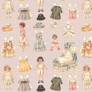 Paper Dolls! on Pink Brick Large
