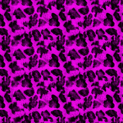 Luxe Leopard ~ Black and Coquette Pink fabric by peacoquettedesigns on Spoonflower - custom fabric