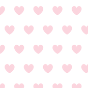 Hearts pink on white