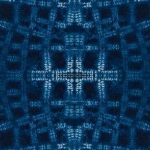 Stitch resist Shibori indigo 3
