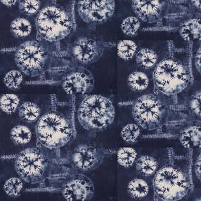 Stitch Resist panel 2 indigo