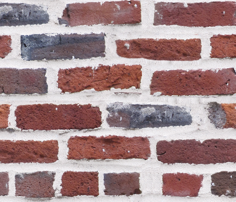 Hit A Brick Wall fabric by peacoquettedesigns on Spoonflower - custom fabric