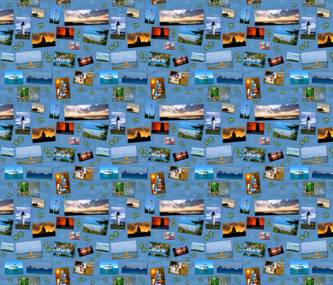 Postcards From Beaver Island fabric by bags29 on Spoonflower - custom fabric