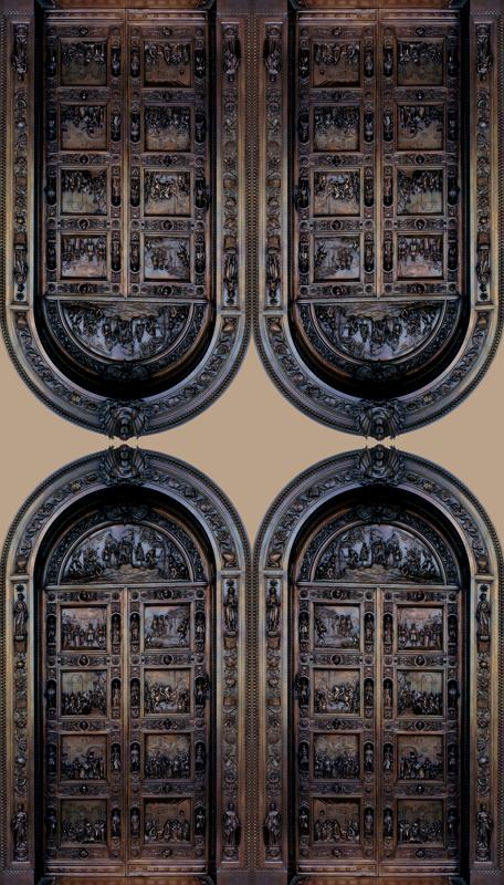 & Columbus Bronze doors U.S. Capitol wallpaper - glimmericks - Spoonflower