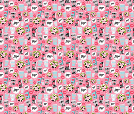 moooo milk pattern fabric by kostolom3000 on Spoonflower - custom fabric