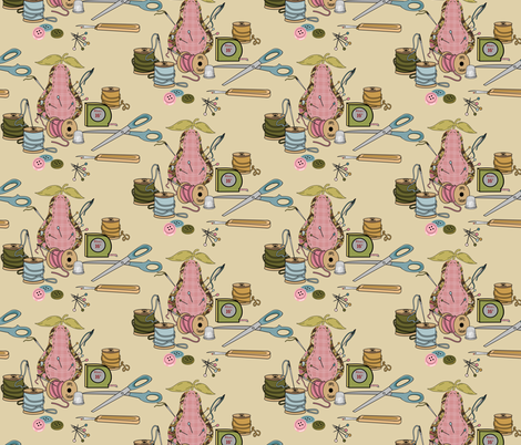 Evelyn's Sewing Notions Half_drop fabric by lana_gordon_rast_ on Spoonflower - custom fabric