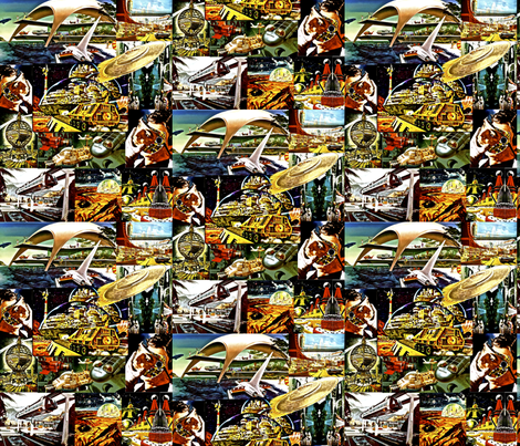 Futurism of the 40's and 50's fabric by whimzwhirled on Spoonflower - custom fabric