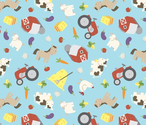 Farmyard Cuteness fabric by electrogiraffe on Spoonflower - custom fabric
