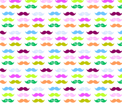 Mustache Candy-Personalized white fabric by drapestudio on Spoonflower - custom fabric