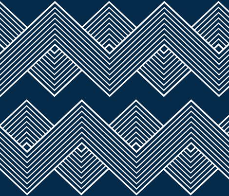 Modern Uniformity - Blue fabric by natitys on Spoonflower - custom fabric