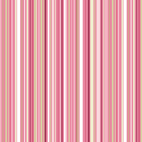 Madame Butterfly Stripes-Med Pink fabric by wrapartist on Spoonflower - custom fabric