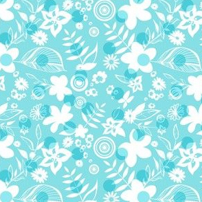 Tropical flowers pattern 03