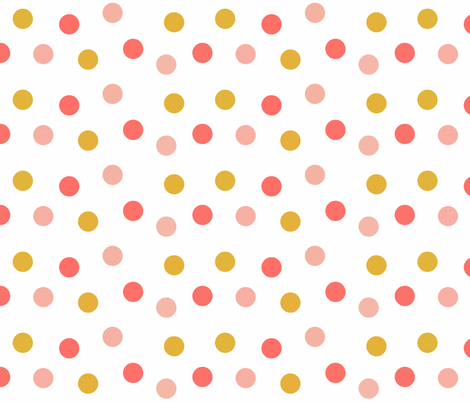 Carnival in Summer Brights Scatter Dots fabric by willowlanetextiles on Spoonflower - custom fabric