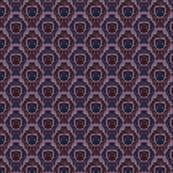Transformer Damask in Red and Blue