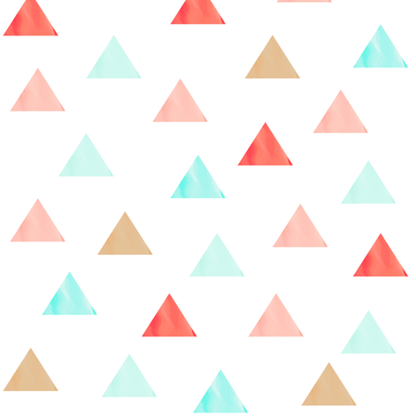 Watercolor Triangles fabric by willowlanetextiles on Spoonflower - custom fabric
