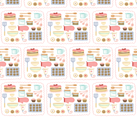 I love baking fabric by littledear on Spoonflower - custom fabric