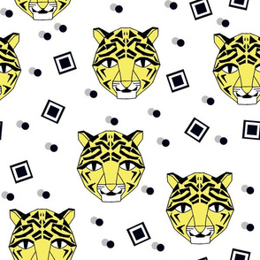 Rad Tiger Face - Canary Yellow by Andrea Lauren