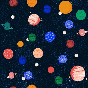 planets // solar system planets fabric