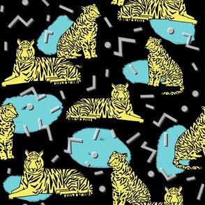 Rad Tiger Party - Canary Yellow/Black/Aqua by Andrea Lauren