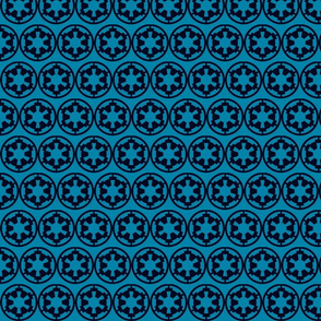 Cog Blue on Blue Small