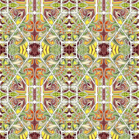 Hexagon Harvest fabric by edsel2084 on Spoonflower - custom fabric