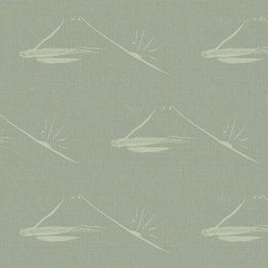 Sengai's Mountain, celadon, grey