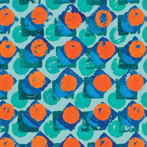 pillbox sun fabric by bippidiiboppidii on Spoonflower - custom fabric