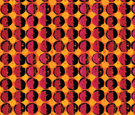 blood red half moon fabric by bippidiiboppidii on Spoonflower - custom fabric