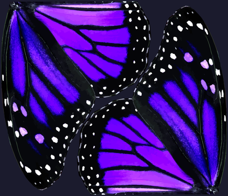 Purple Monarch Butterfly Wings fabric by bonnie_phantasm on Spoonflower - custom fabric
