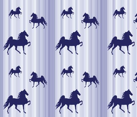 Horses-navy_stripe fabric by mammajamma on Spoonflower - custom fabric