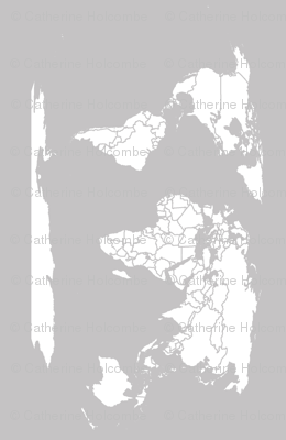 Light Gray map