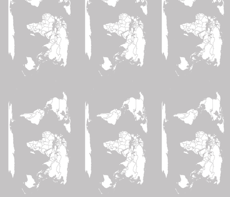 Light Gray map fabric by aftermyart on Spoonflower - custom fabric
