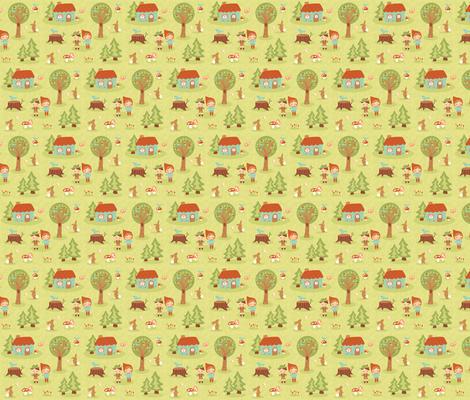 fairytale forest fabric by littledear on Spoonflower - custom fabric