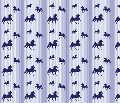 Horses-navy_stripe-smaller fabric by mammajamma on Spoonflower - custom fabric