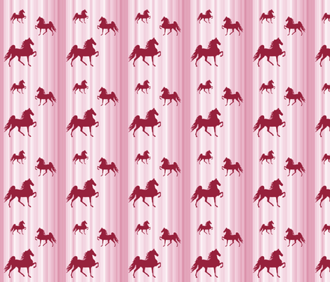Horses-pink_stripe-smaller fabric by mammajamma on Spoonflower - custom fabric