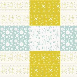 Notions Quilt 1412- mint haystack