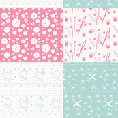 Notions Quilt Mini-watermelon  ocean