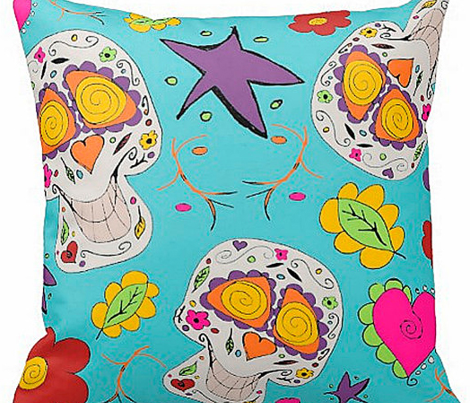 Day of the dead cute Calaveras Skulls