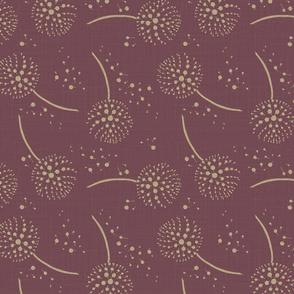 dandelion in plum