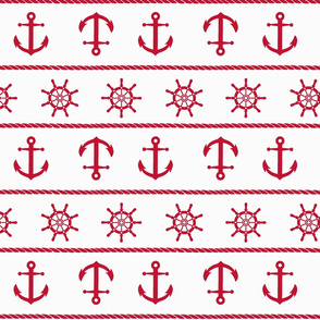 Red Nautical Anchor