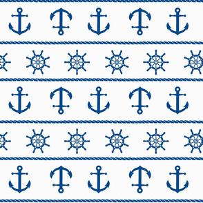 Blue Nautical Anchor