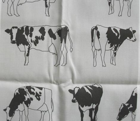 Dairy Cows Monochrome