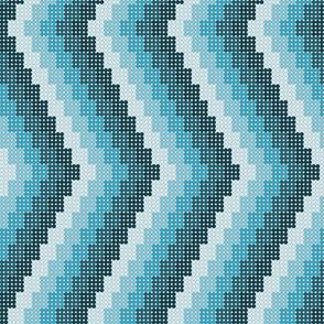 CHEVRON 1 IN BLUE