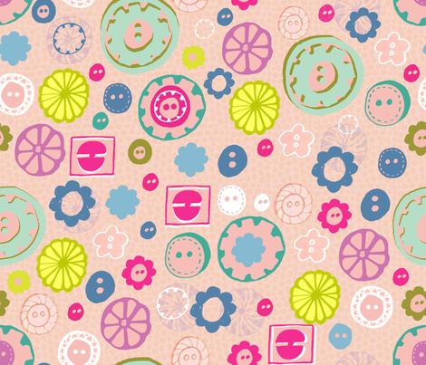 Bright as a Button fabric by slumbermonkey on Spoonflower - custom fabric