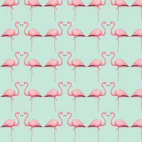 Pink Flamingo on Mint
