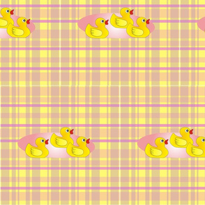 Rubber Duck Parade on Vivian Plaid