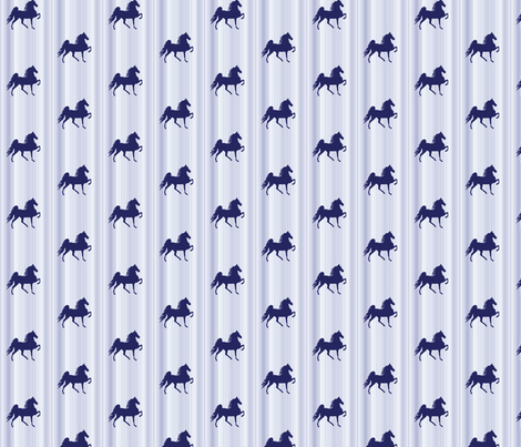 Horses-navy_stripe-for_kids fabric by mammajamma on Spoonflower - custom fabric