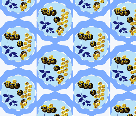 Dancing Gourds fabric by robin_rice on Spoonflower - custom fabric